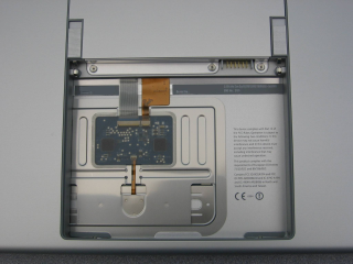 A small image of the interior of a MacBook Pro's battery compartment, circa 2006